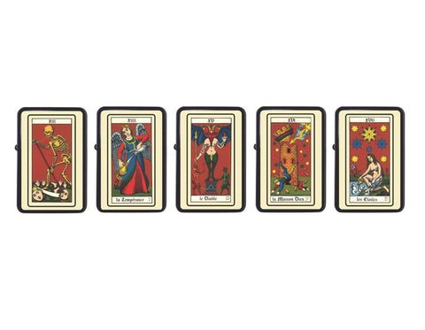 French Tarot Cards Lighter Set, Z Plus 2 Vertigo Lighter