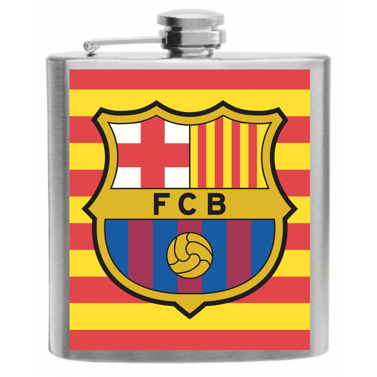 FC Barcelona Stainless Steel Hip Flask 6oz