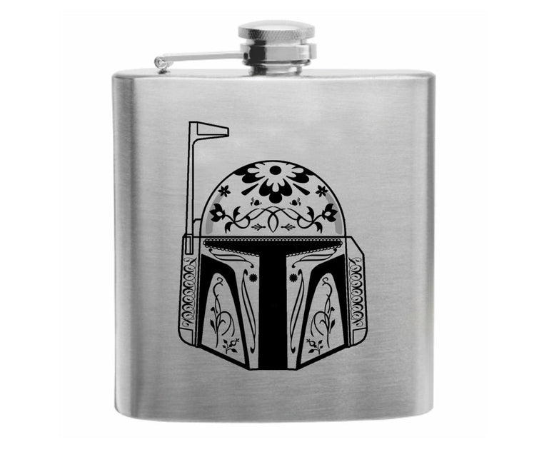 Day of the Dead Boba Fett Stainless Steel Hip Flask 6oz