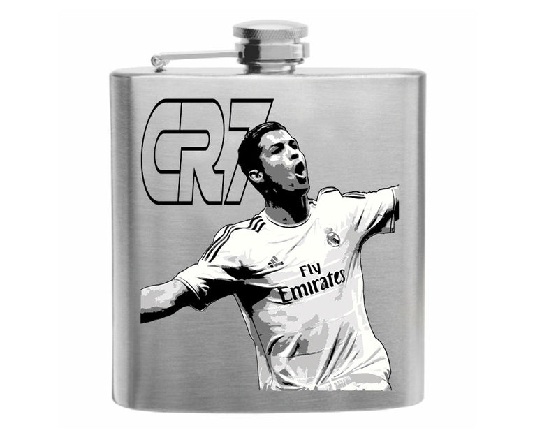 Cristiano Ronaldo CR7 Stainless Steel Hip Flask 6oz