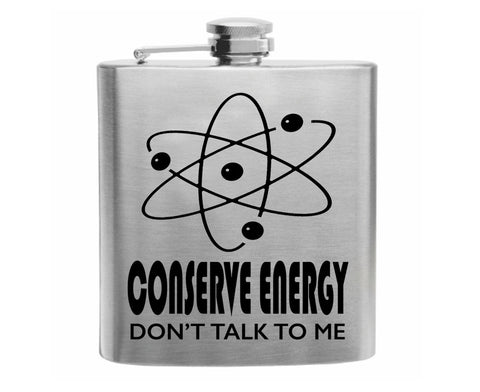 Conserve Energy Stainless Steel Hip Flask 6oz