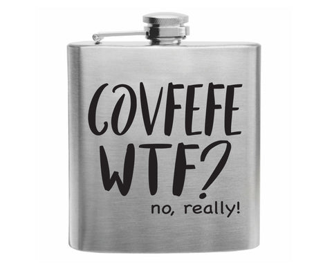 Coffee WTF? Stainless Steel Hip Flask 6oz