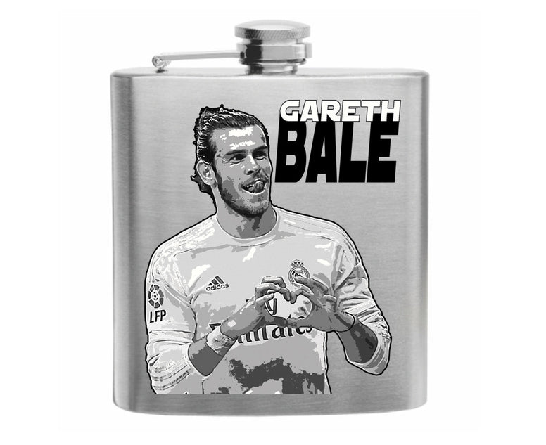 Gareth Bale Stainless Steel Hip Flask 6oz