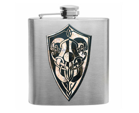 Dark Souls Watchdragon Parma Shield Stainless Steel Hip Flask 6oz