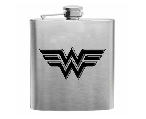 Wonder Woman Stainless Steel Hip Flask 6oz