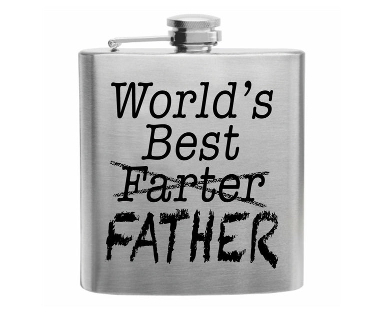 World's Best Farter Stainless Steel Hip Flask 6oz