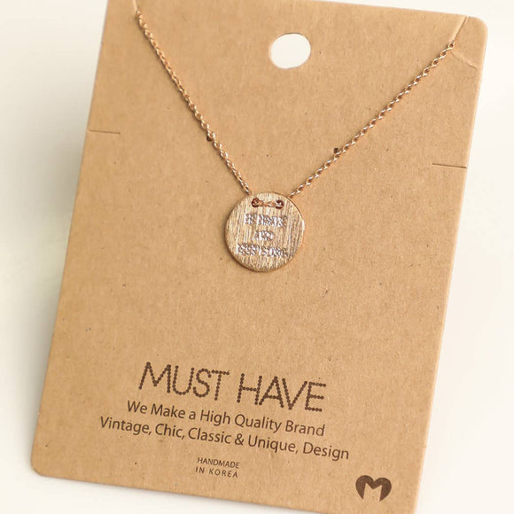 Be Brave & Keep Going Coin Necklace