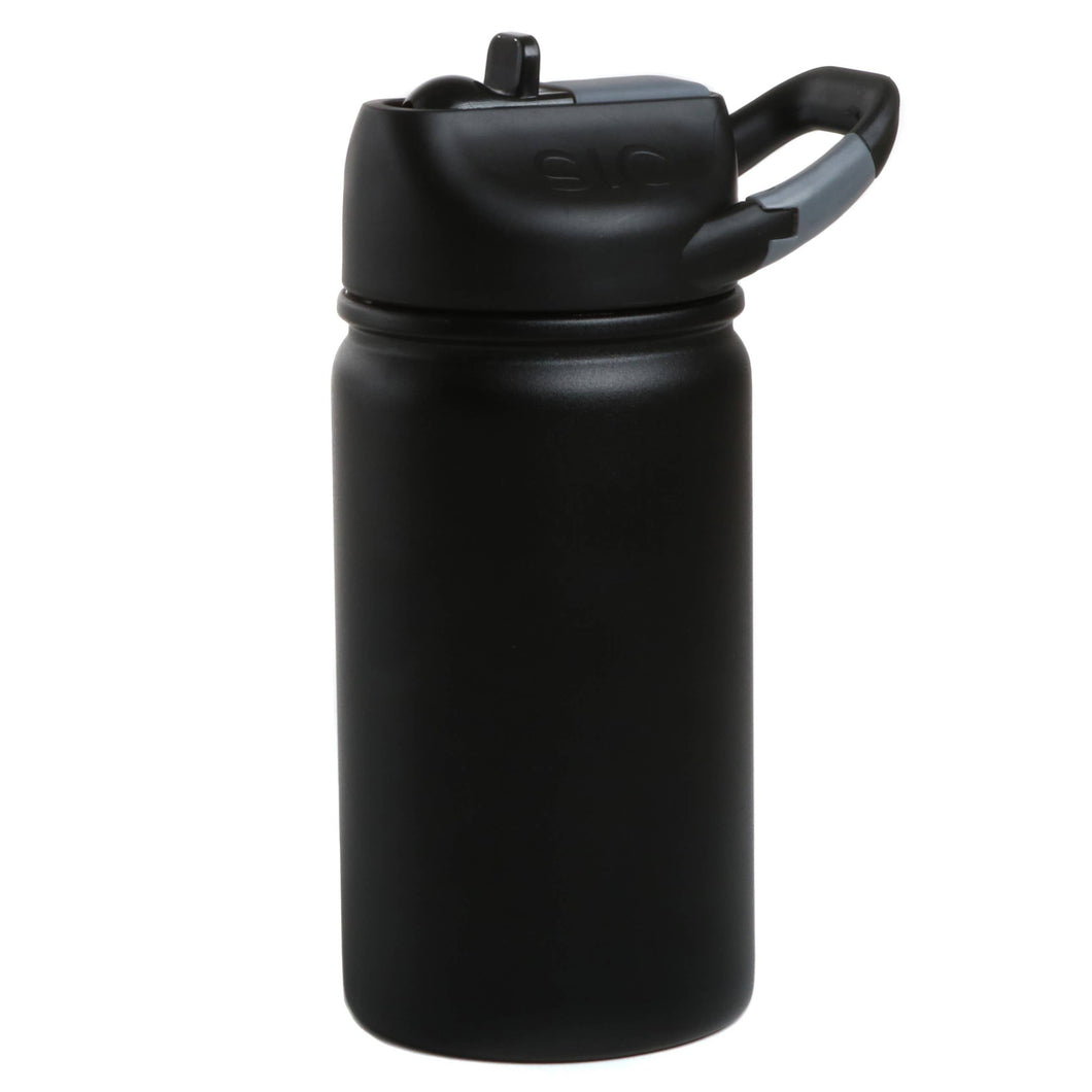 SIC Cups - 12 oz lil SIC Tuff Black Stainless Steel Kids Water Bottle