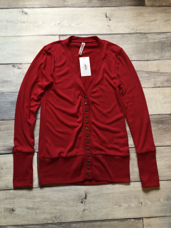 Small Snap Cardi Red