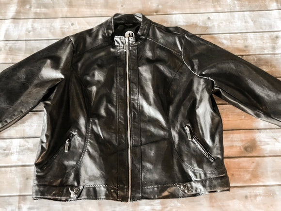 Black Leather Jacket 3X