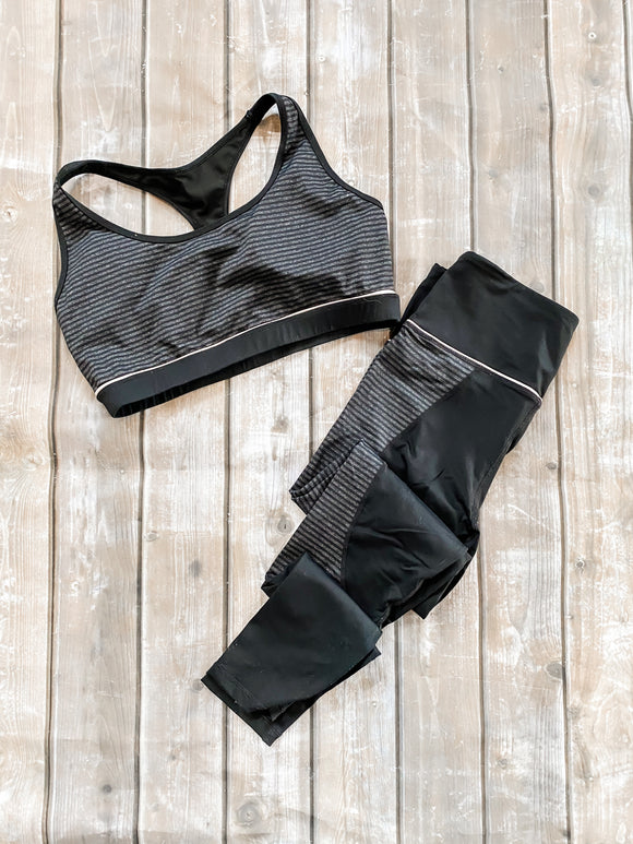 Mono B Medium Leggings/Large Sports Bra Combo