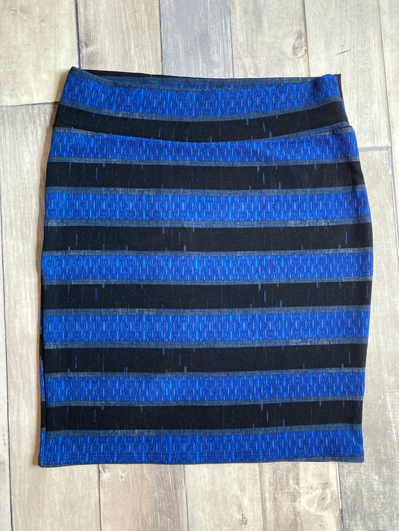 Lula Roe Cassie Blue Stripe 3XL