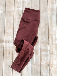 Victoria Secret Sport Medium Burgundy Leggings