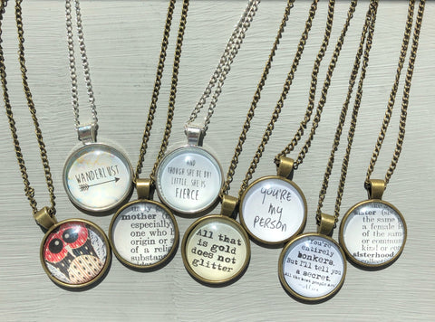 Saying Necklaces