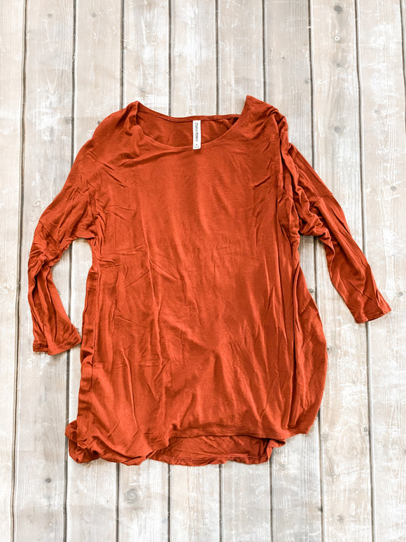 Zenana Small Burnt Orange Top