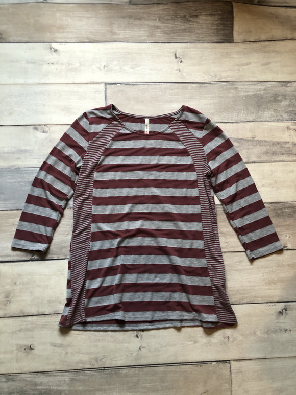 Small Burgundy Stripe