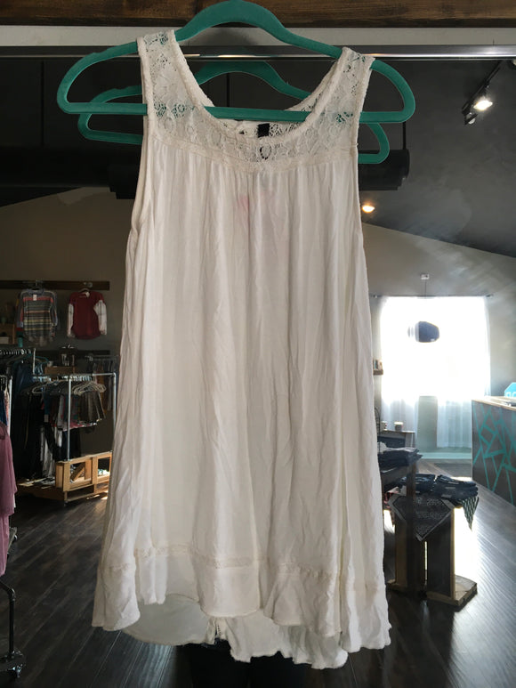 A Glo Maternity Tank White Medium