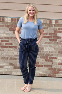 Grace Striped Paper Bag Pants