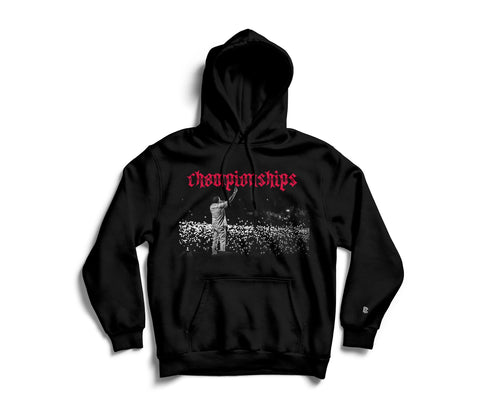 Black Championships sweatshirt with hood found on MeekMill.com