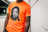 Orange docket t-shirt found on MeekMill.com