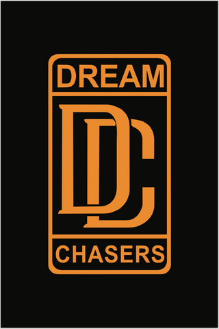 18 x 24 Dream Chasers Logo #2 Poster in orange and black