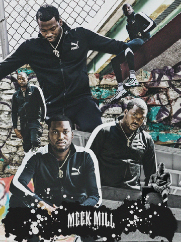 18 x 24 collage poster of Meek Mill