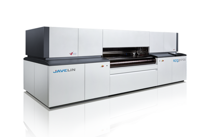 The Javelin Textile Printer from SPGPrints Compatible with reactive, disperse, or acid inks.