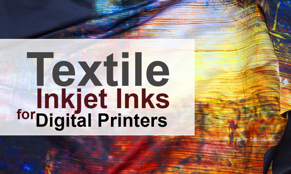 Textile inkjet inks for digital printers