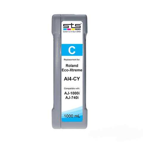 Replacement Cartridge for Roland Eco-Xtreme LT ® 1000ml (C,M,Y,K,LC,LM) AI4 - www.allprintheads.com