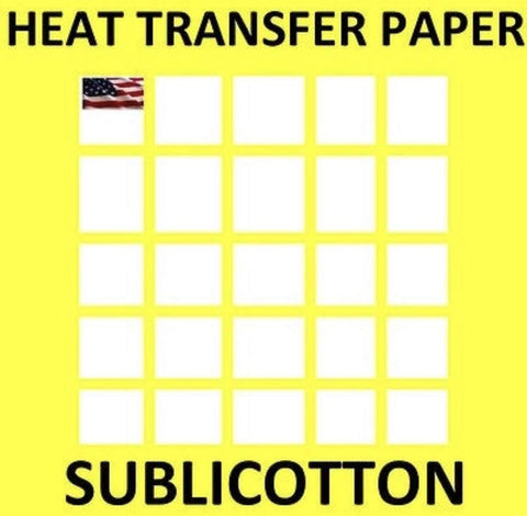 Dye Sublimation Printable Heat Transfer Paper for Light Fabrics SUBLICOTTON Yellow Grid - www.allprintheads.com