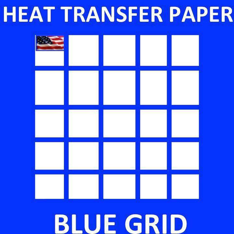 InkJet Printable Heat Transfer Paper for Dark Fabrics BLUE GRID - www.allprintheads.com