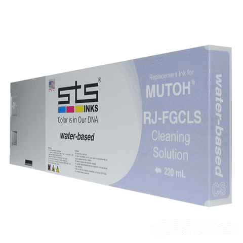 Compatible Cleaning Solution for Mutoh Water-Based 220 mL RJ-FGCLS - www.allprintheads.com