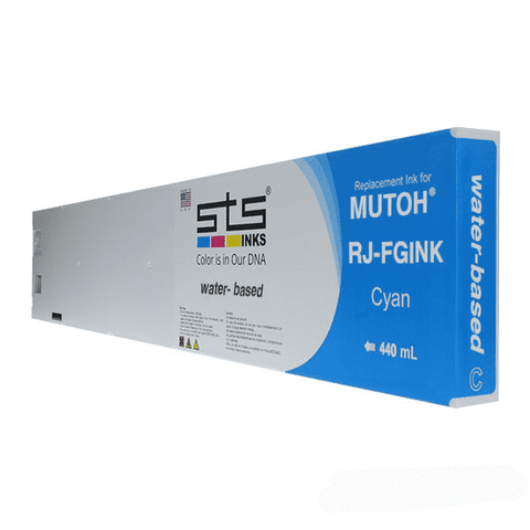 Replacement Cartridge for Mutoh Water-Based (C,M,Y,B,LC,LM) 440ml RJ-FGINK-2 - www.allprintheads.com