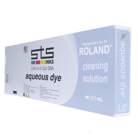 Cleaning Solution Cartridge for Roland Aqueous Dye 220ml - www.allprintheads.com