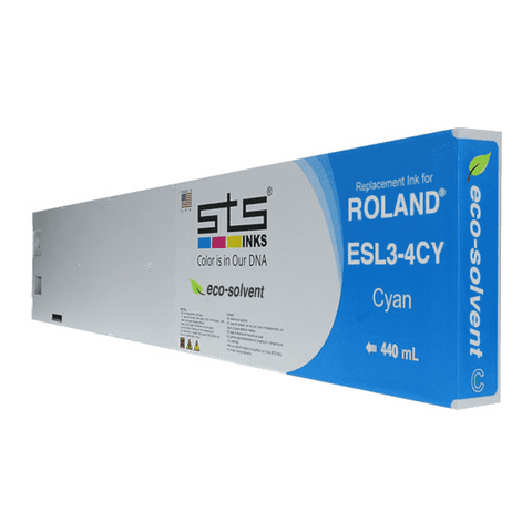 Replacement Cartridge for Roland Eco-Sol MAX ® 440ml ESL3-4 (C,M,Y,B,W,LC,LM) ESL3-4