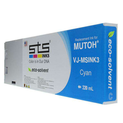 Replacement Cartridge for Mutoh Eco-Solvent  VJ-MSINK3-PK220 - www.allprintheads.com