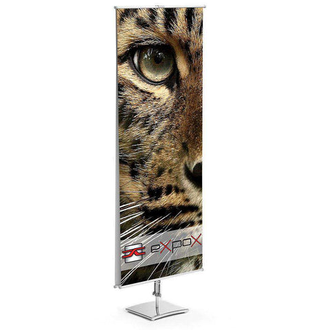 Expox DI-2DS Classic Banner Stand | 23.5″x 63″ | Double Sided