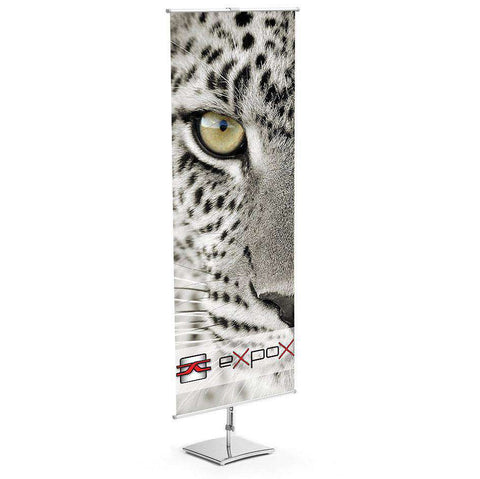 Expox DI-2SS Classic Banner Stand | 23.5″x 63″ | Single Sided | Square Base