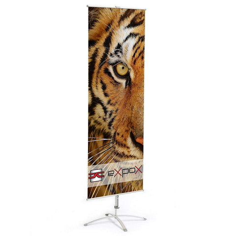 Expox DI-1SS Cross Base Banner Stand | 23.5″x 63″
