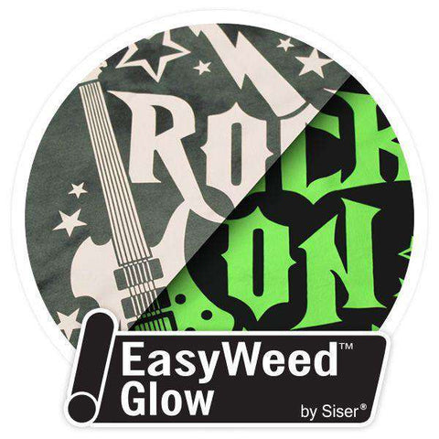 "Siser EasyWeed Glow-in-the-Dark Heat Transfer Vinyl - 20"" wide - www.allprintheads.com"