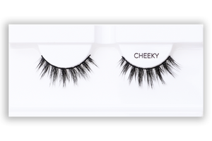 Petite Cosmetics Cheeky false lashes product tray packaging
