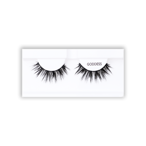 Petite Cosmetics Goddess false lashes tray packaging