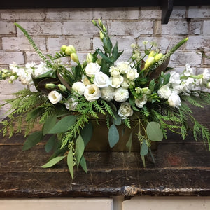 Large Elegant White Flowers & Greens Centrepiece