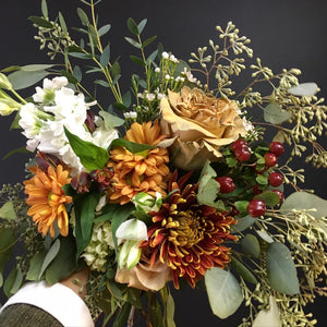 Thanksgiving Hand Held Bouquet - Please call to order
