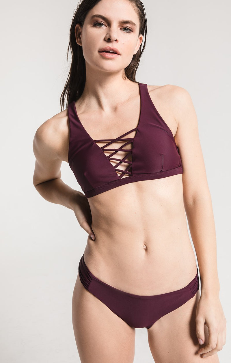 The Fae Ruched Side Bikini Swim Bottoms