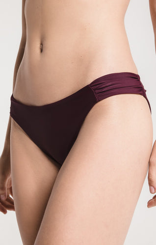 Z Supply The Fae Ruched Side Bikini Swim Bottoms