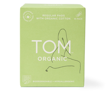 TOM Organic Regular Pads Packaging Front View