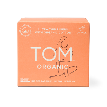 TOM Organic Ultra Thin Liners Front Packaging