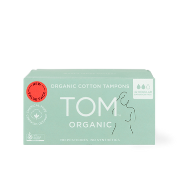 TOM Organic regular tampons 32 bathroom pack
