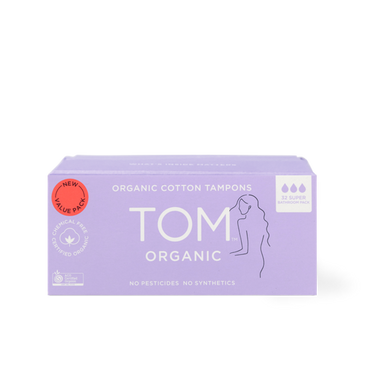 TOM Organic Super Tampons 32 Bathroom Pack Front